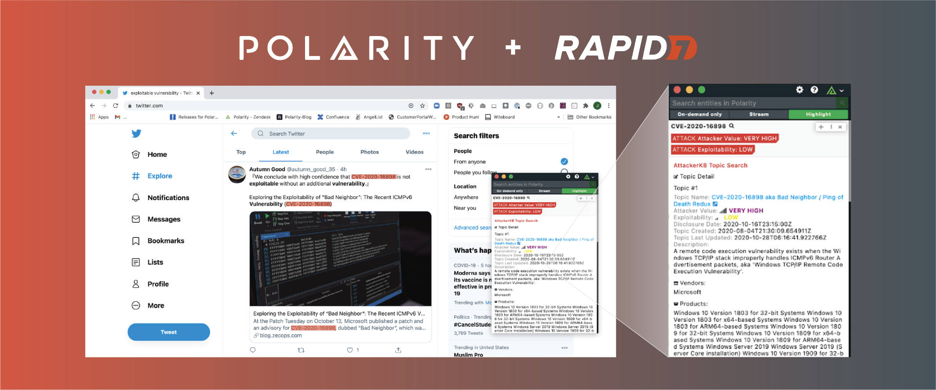 Always Know a Vulnerability's Weak Point with the Polarity Rapid7 AttackerKB Integration cover image