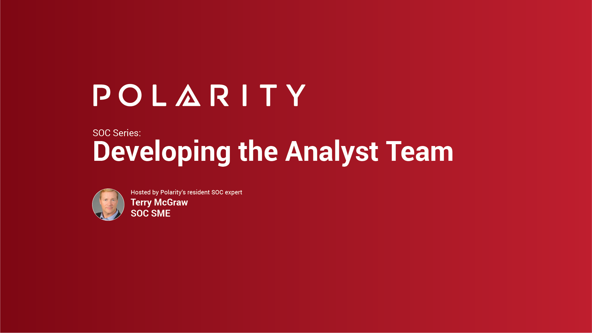 SOC Series: Developing the Analyst Team cover image