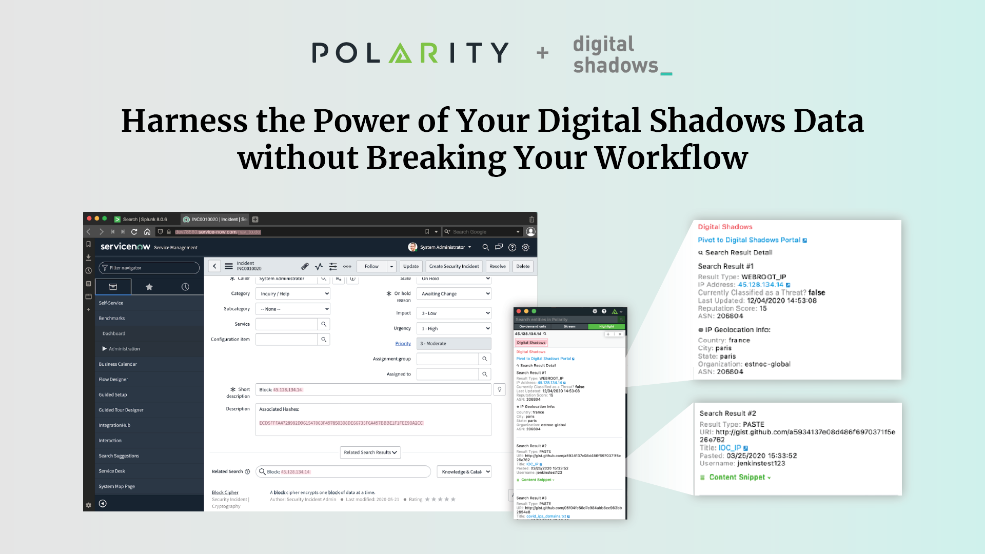 Harness the Power of Your Digital Shadows Data without Breaking Your Workflow  cover image