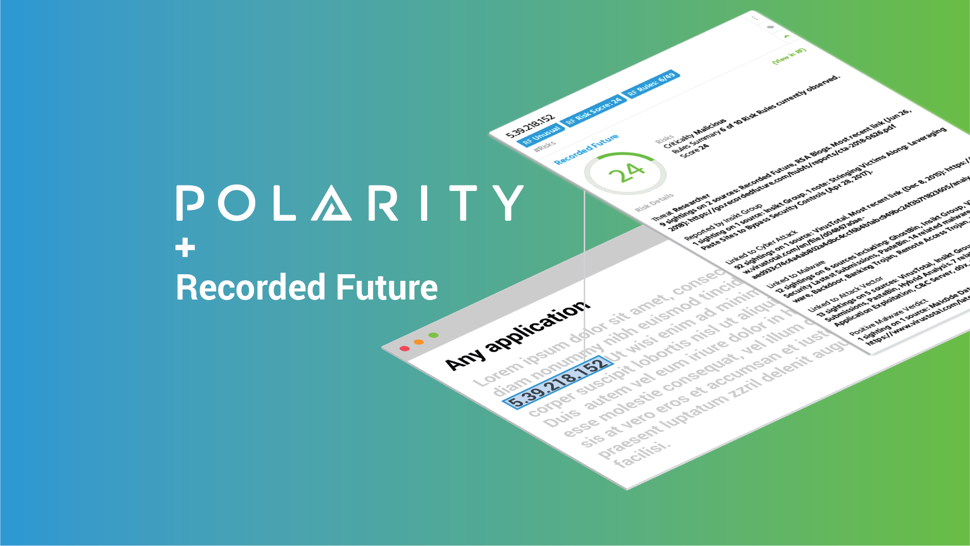 Get Instantaneous Awareness of Threat Intelligence with the Polarity-Recorded Future Integration cover image