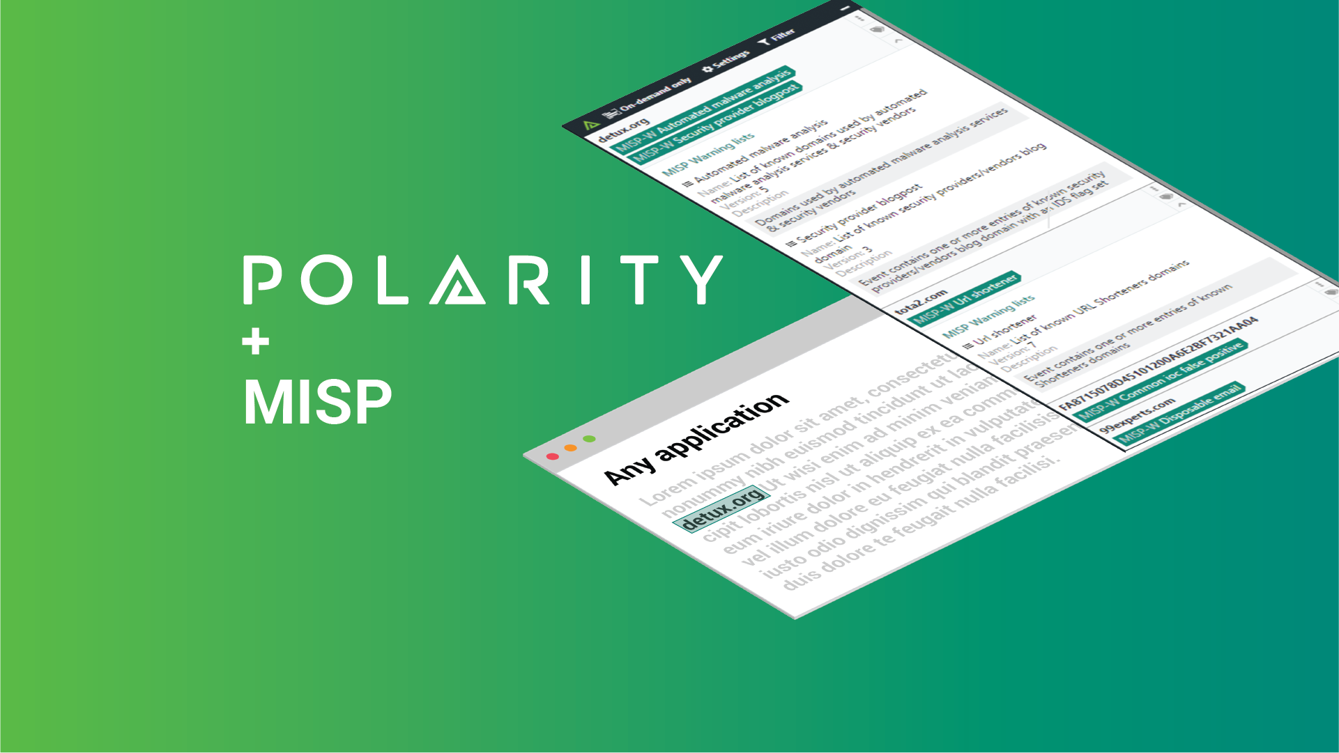 Get Instant Data Awareness on MISP Warning Lists with Polarity cover image