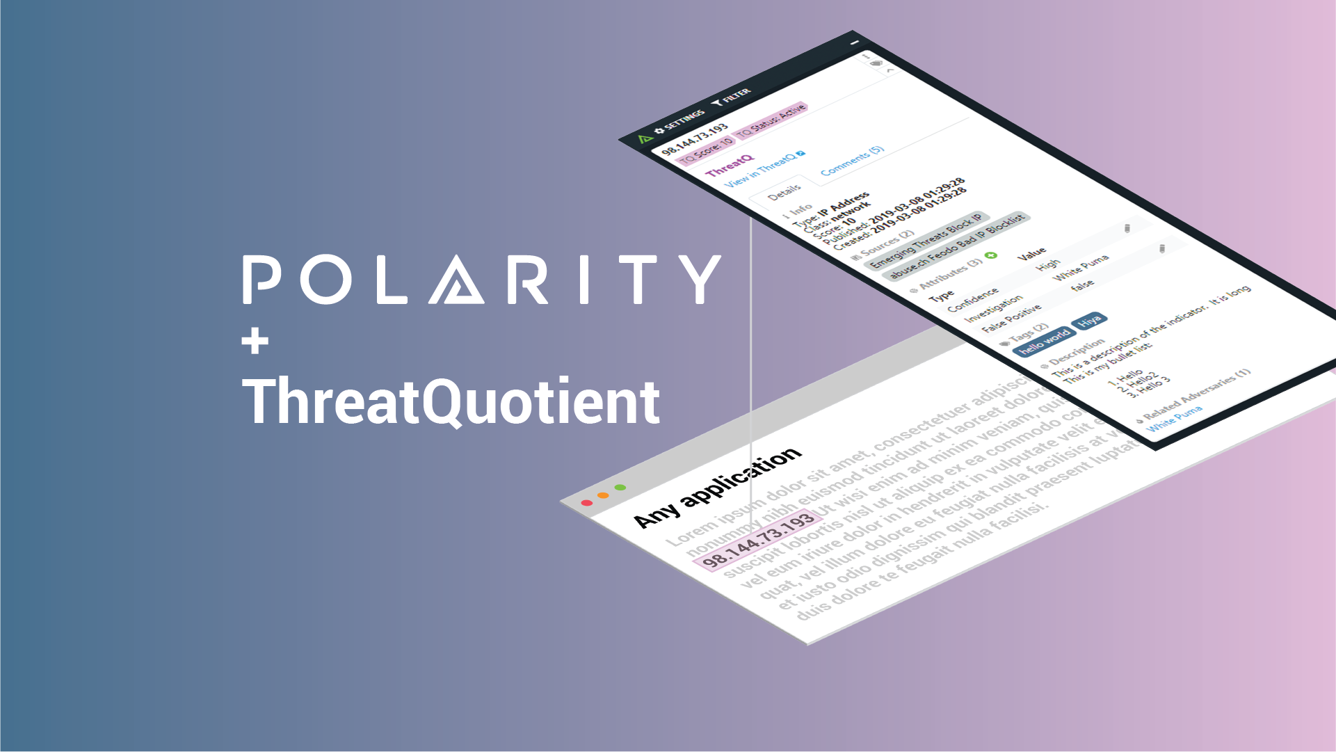 Get Even Better Data Awareness & Recall with the Updated Polarity-ThreatQuotient Integration cover image
