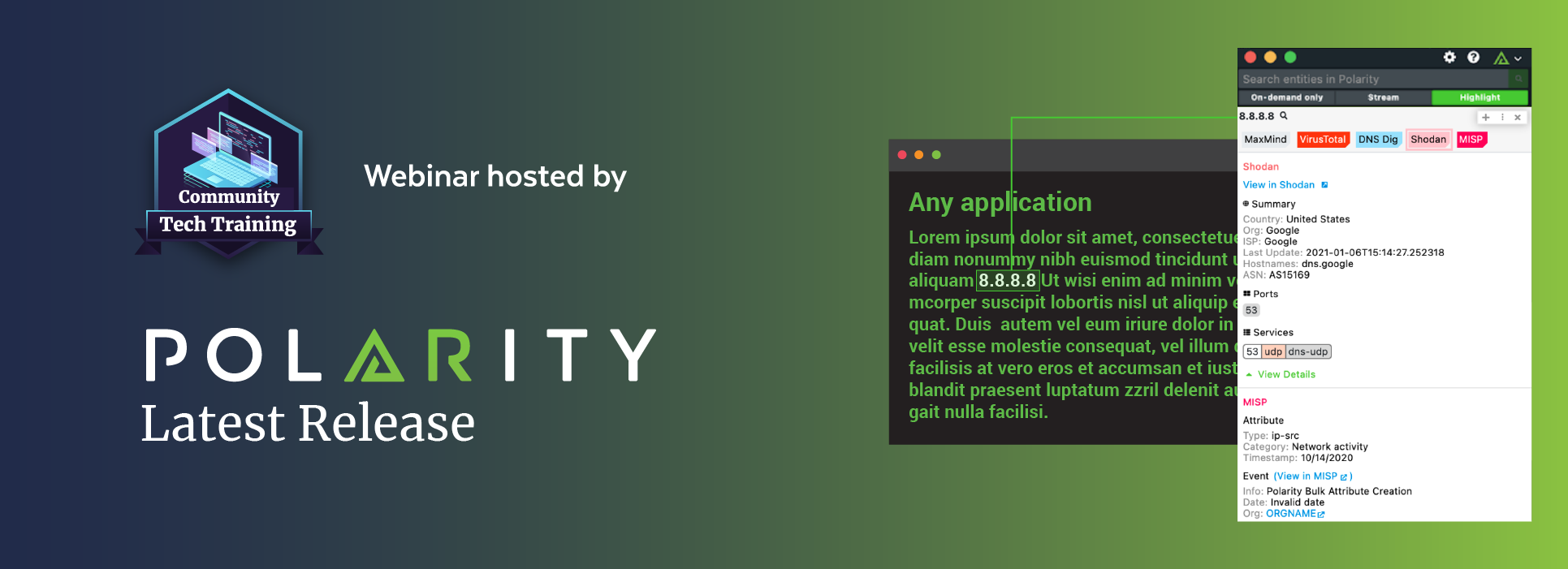 Community Tech Training: Polarity's Latest Releasecover image