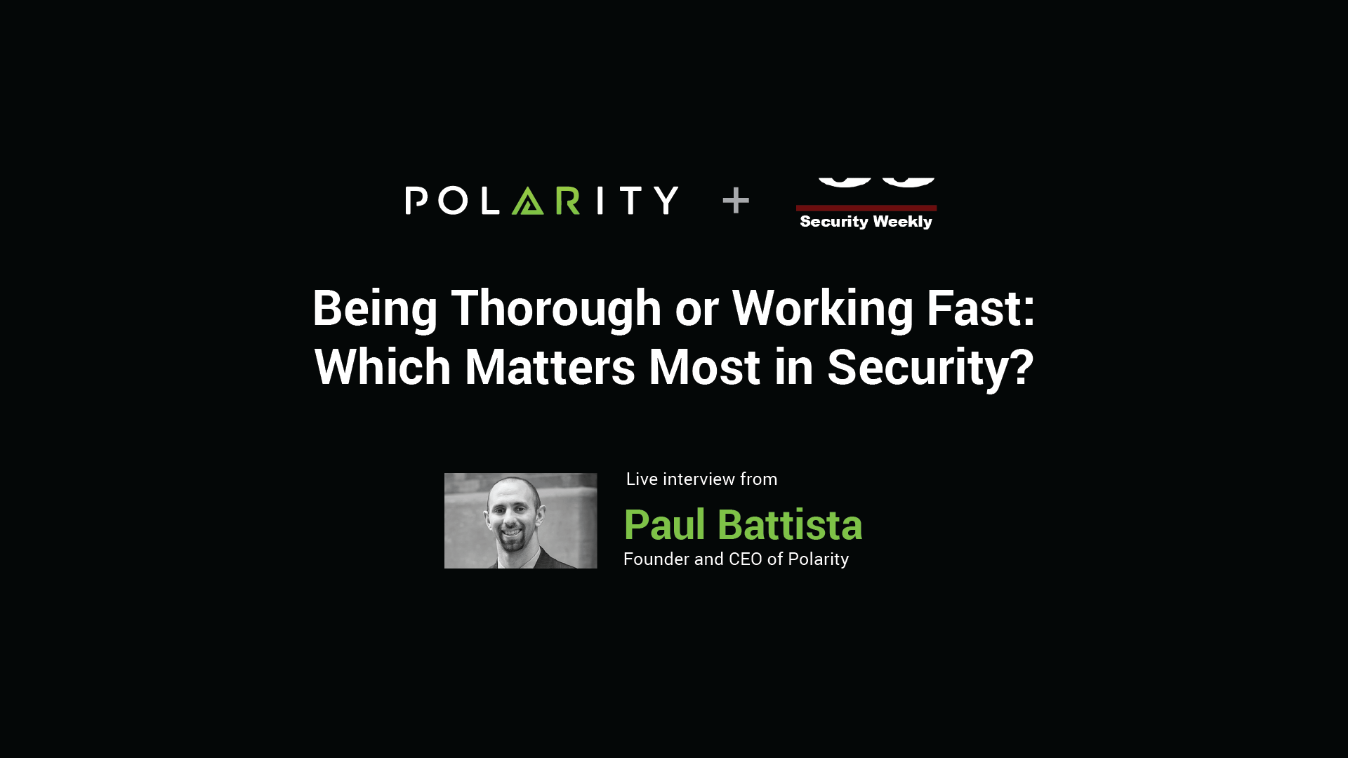 Being Thorough or Working Fast: Which Matters Most in Security? cover image