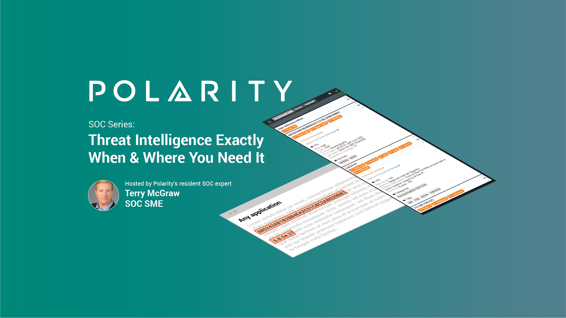 SOC Series: Threat Intelligence Exactly When & Where You Need It cover image